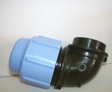 Gomito Femmina per tubo in Polietilene dal PN4 al PN16. Diametro da 16 a 110