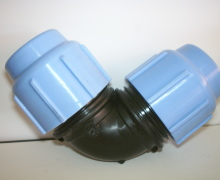 Gomito per tubo in Polietilene dal PN4 al PN16. Diametro da 16 a 110